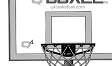 Q4 Arena portable 8-10ft basketball net system.