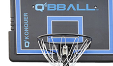 Q4 Kompetitor portable 8-10ft senior basketball goal.