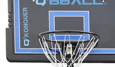 Q4 Konquer portable 8ft-10ft basketball system.