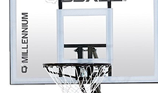 Q4 Millennium portable 8-10ft basketball net system.