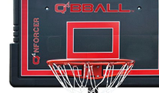 Q4 Nforcer portable 8ft-10ft basketball net system.