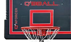 Q4 Nforcer portable 8ft-10ft basketball net system.