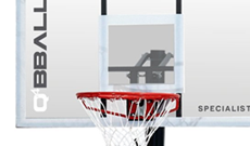 Q4 Speciliast portable 8-10ft basketball net system.