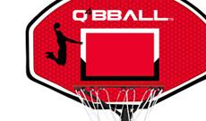 Q4 Xplode junior portable 6-8ft basketball net system.