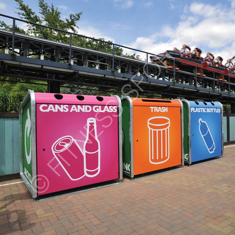 Recycling Station Area Bins