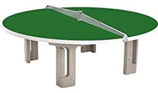 Butterfly cement round outdoor table tennis table.