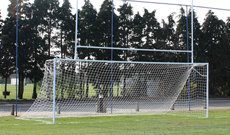 Combination rugby practice goalposts.