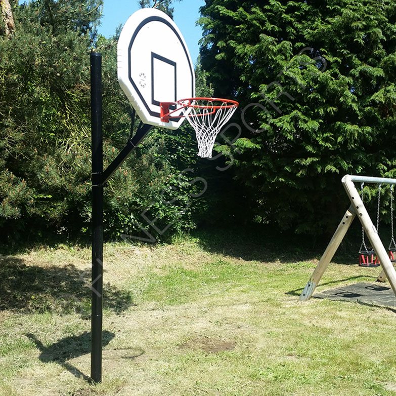Residential basketball game area courts