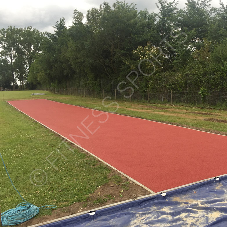 Long jump landing pit area