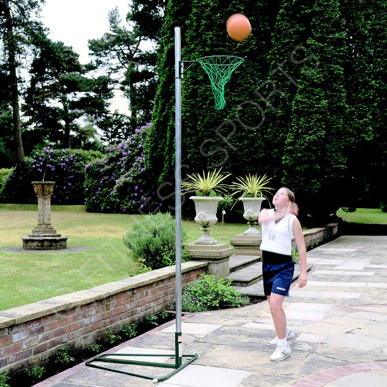 Freestanding Steel Netball Goal Post