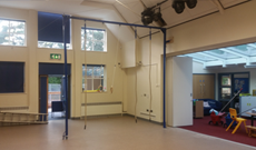Walkden junior school PE frame apparatus.