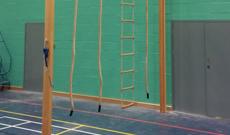 PE rope climbing trackway installation.