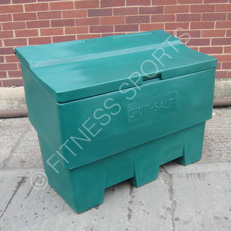Salt bin hopper for playground use