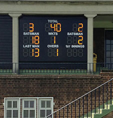 Bespoke and standard cricket scoreboards