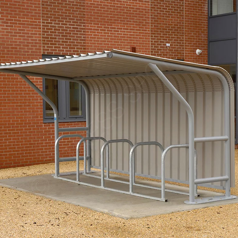 Outdoor Steel Mesh Secure Enclosed Bicycle Storage Shelter