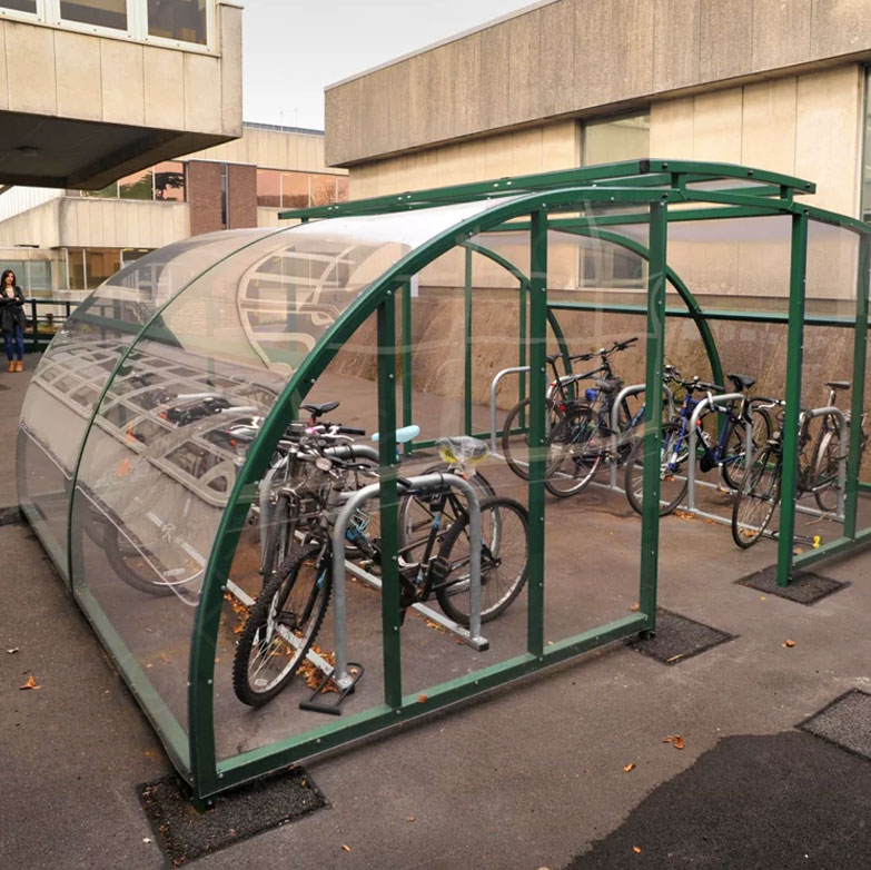 Secure Perspex Glass Bicycle Shelter