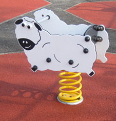 Playground springers for play areas