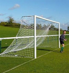 In Ground Senior Aluminium & Steel Socketed Football Goalposts