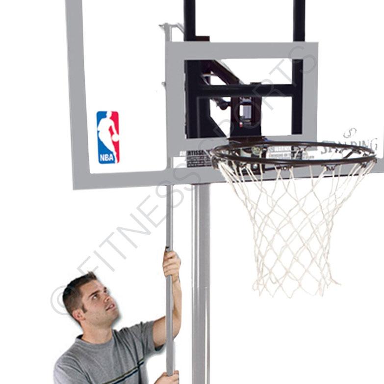 Goal Platinum: Spalding Silver Acrylic Portable Basketball Goal Post
