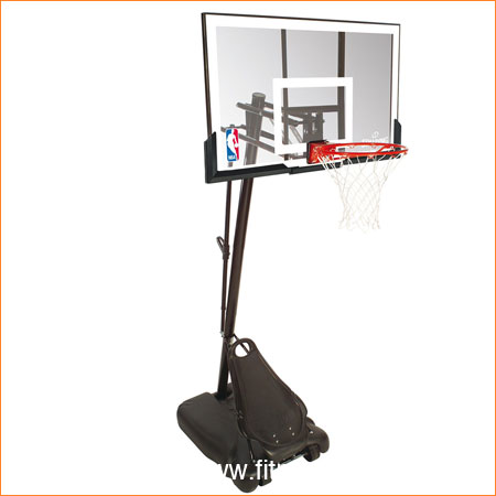Spalding Gold Acrylic Portable Basketball System ...