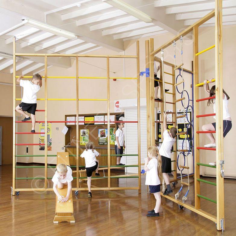Spectrum Wall Folding Climbing Frame School Pe Apparatus