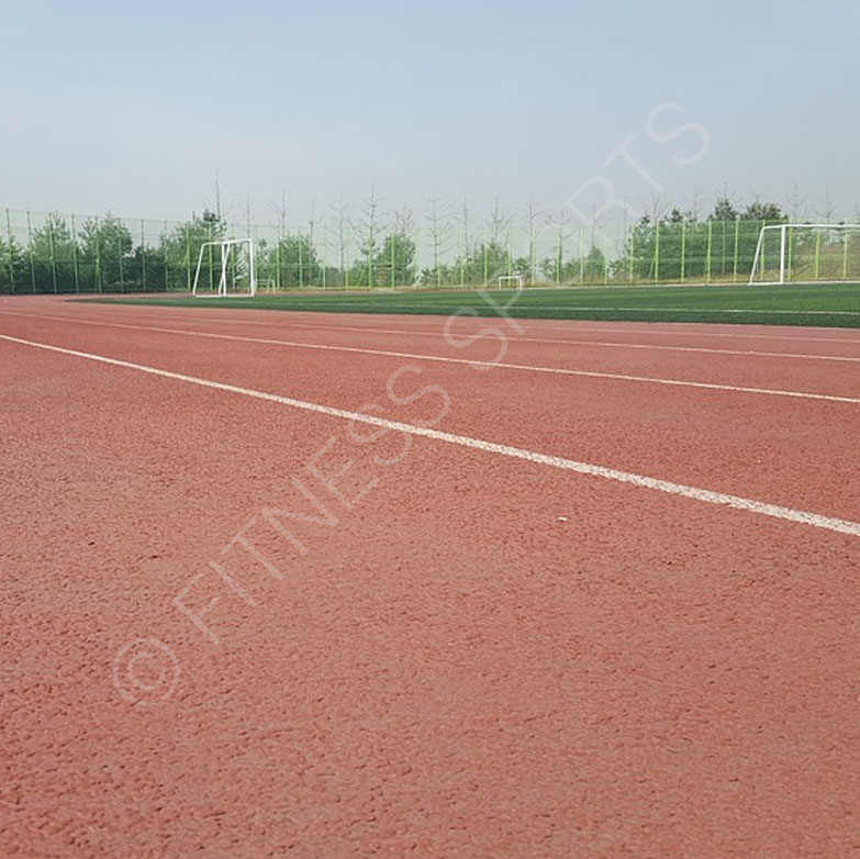 Running sports track installation