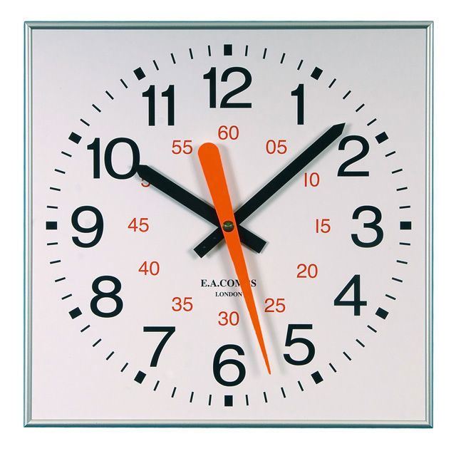 "Large 18"" Square Gym Wall Clock"