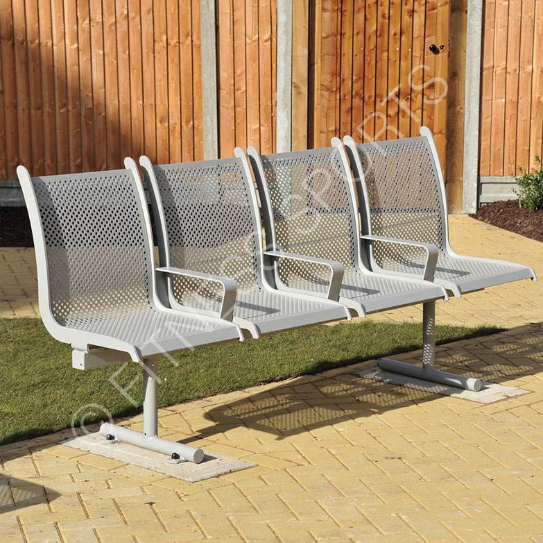 Steel Outdoor Waiting Area Bench Seats Fitness Sports