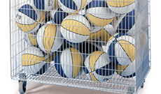Mesh Ball Storage Trolley