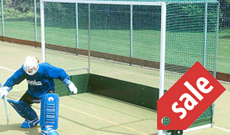 Steel freestanding outdoor plastic board goals.