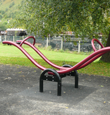 Playground Seesaw installation