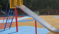 Steel Playground Slides
