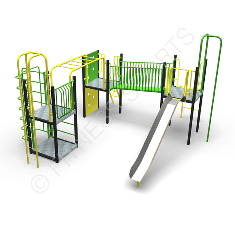 Parks MUGA Activity Play Equipment | Steel Playground Slide | Steel Playpark Equipment MUGA | Fitness Sports Equipment