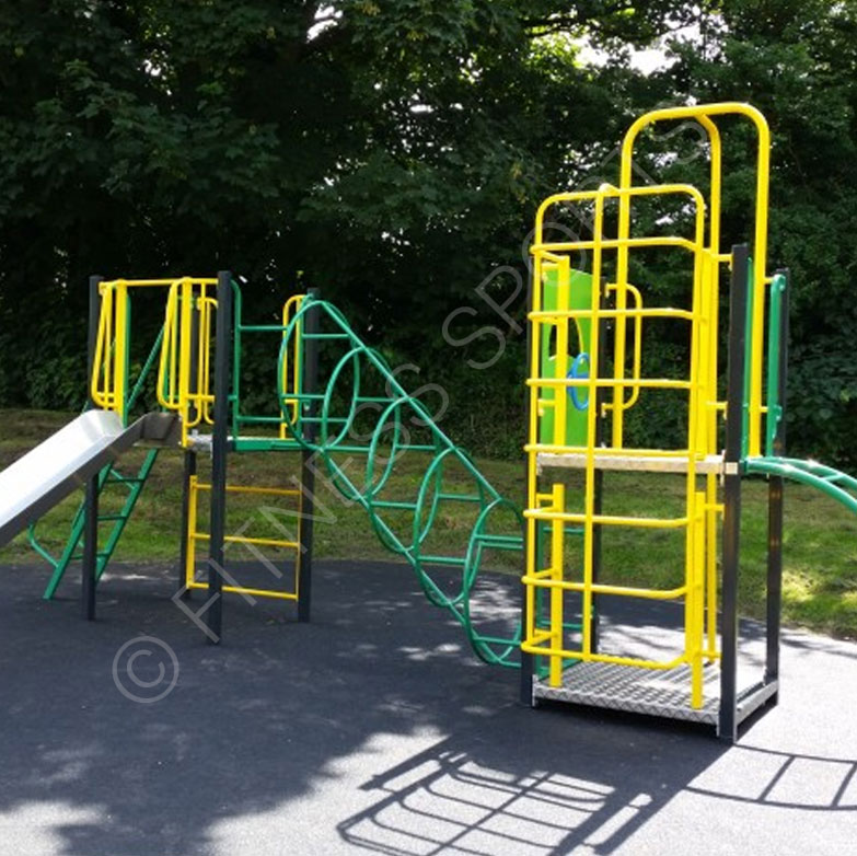 Steel outdoor playground equipment