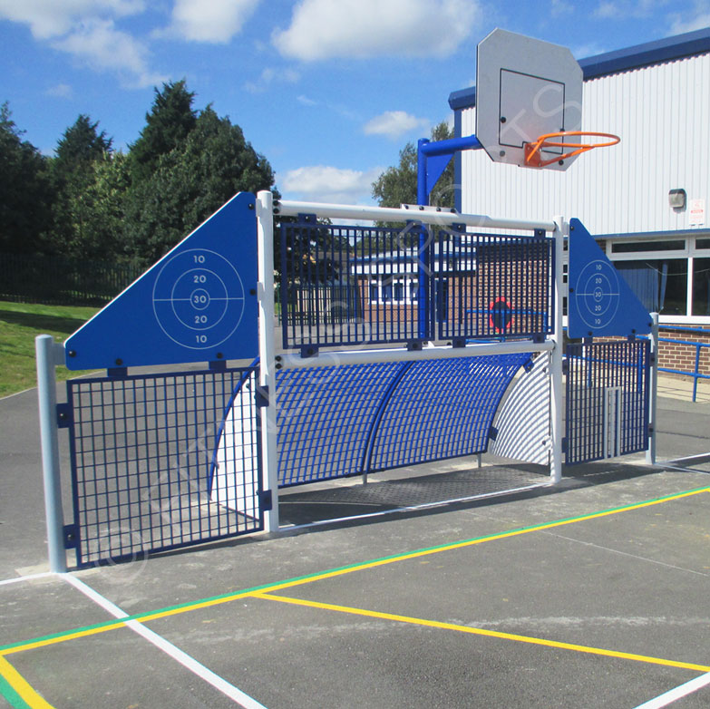 Steel outdoor anti vandal sports goals