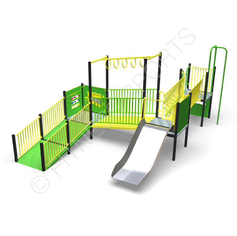 Steel Parks Multi Use Playground Recreation Area Equipment | Fitness Sports Equipment