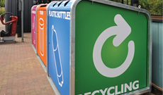 Public recycling bins & stations.