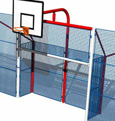 Multi Use Games Area Steel Playground Goal Equipments
