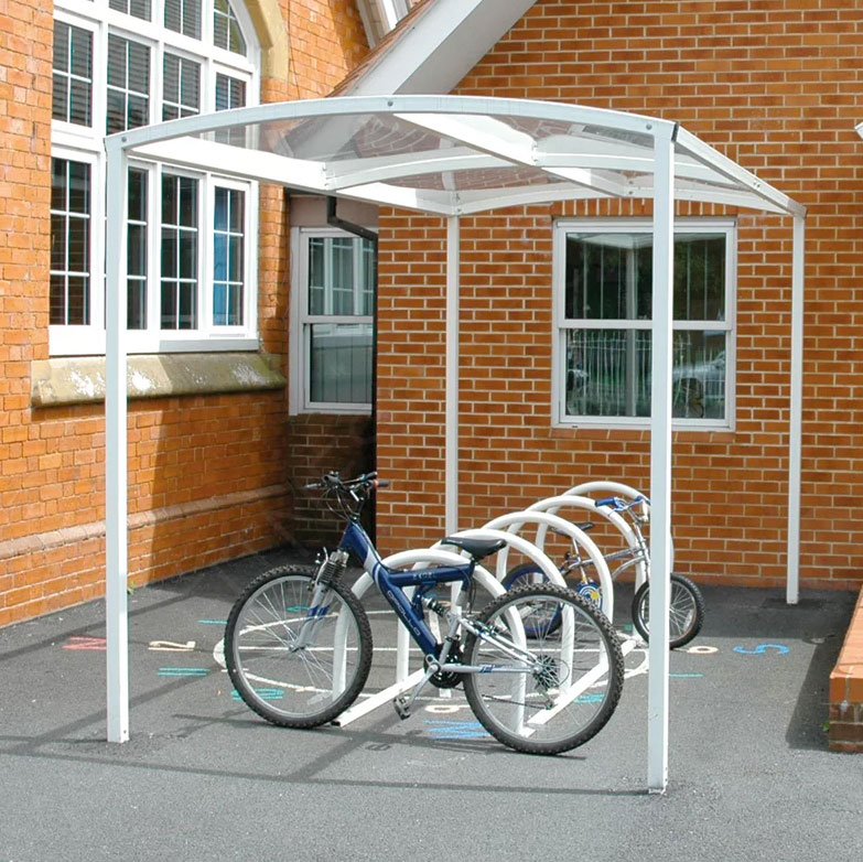 Outdoor Steel Bicycle Storage Rack Shelter Fitness Sports