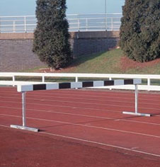 Athletic and running track equipment
