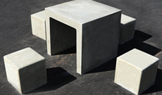 Concrete Seating Area Table