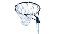 Sure Shot 510 portable netball post goals.