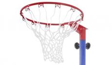Sure Shot 540 combination netball basketball goal unit.
