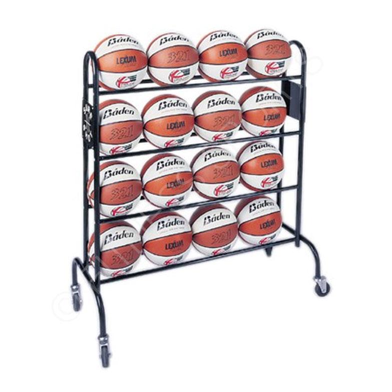 Elegant 16 Basketball Ball Storage Rack