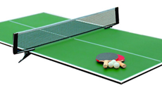 Removable tennis table top cover leisure tables.