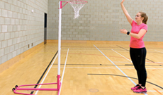 Indoor Steel Netball Posts