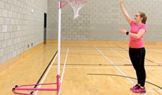 Indoor Steel Netball Posts