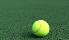Hard and sand based tennis court surfaces.