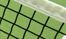 Residential grade 2mm tennis net.