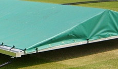 Test professional cricket wicket covers